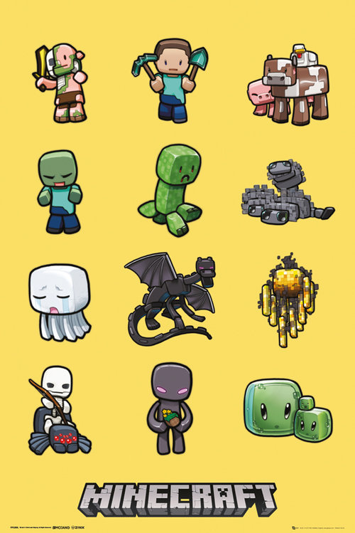 Poster Minecraft Characters