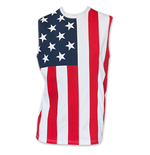 T-shirt Sans Manches USA Patriotic - American Flag