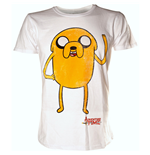 Adventure Time T-Shirt Jake Waving  L, Blanc