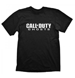 Call Of Duty T-shirt Ghosts Logo L, Noir