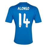 Real Madrid Away 2013-14 (Alonso 14) - Maillot pour garçon