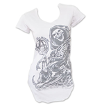 T-shirt Sons of Anarchy Reaper Pour Femme Col-U - Blanc