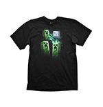 Minecraft T-shirt - Three Creeper Moon - XL, Noir