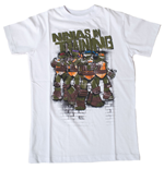 Tortues Nninja T-shirt Ninja In Training Garçon, 164/170 cm, Blanc