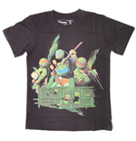 Tortues Nninja T-shirt Mutants Rule Garçon,164/170 cm, Noir