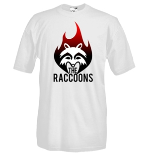 T-shirt col rond manches courtes - Impression flex - The Raccoons