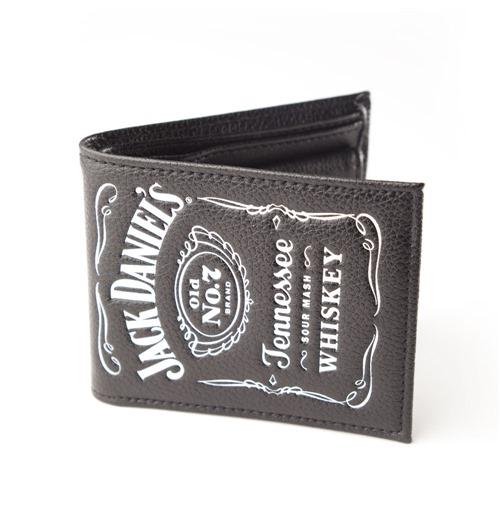 jack daniel 39 s portefeuille pliant en cuir logo gaufr. Black Bedroom Furniture Sets. Home Design Ideas