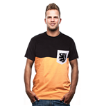 Hollande T-Shirt Pocket Orange - Noire // 100% Coton