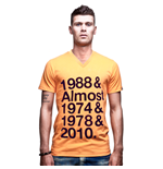 Holland T-Shirt Presque Col-V // Orange 100% Coton