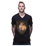 Hollande T-shirt Lion Col-v // Noire 100% Coton