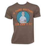 T-shirt King Of the Hill Anything Beer Can't Do - Marron