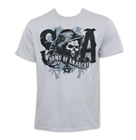 T-shirt Sons Of Anarchy Reaper Argent SOA