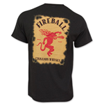 T-shirt FireBall Cinnamon Whiskey Bottle Label