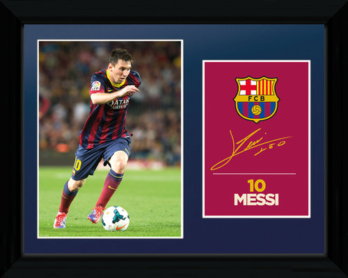Photo Encadrée FC Barcelone Messi 13/14