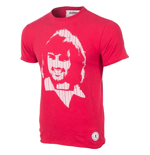 T-shirt George Best Repeat Logo - Rouge