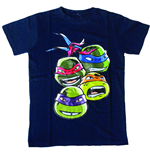 T-shirt Tortues Ninja Faces, Taille 128/134 (Enfant)
