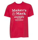 Maker's Mark T-shirt Rouge Logo Whiskey