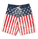 Short de bain Patriotique Drapeau Américain USA Distressed