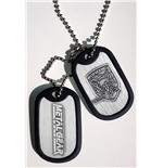Metal Gear Solid pendentif Dog Tag Foxhound Logo