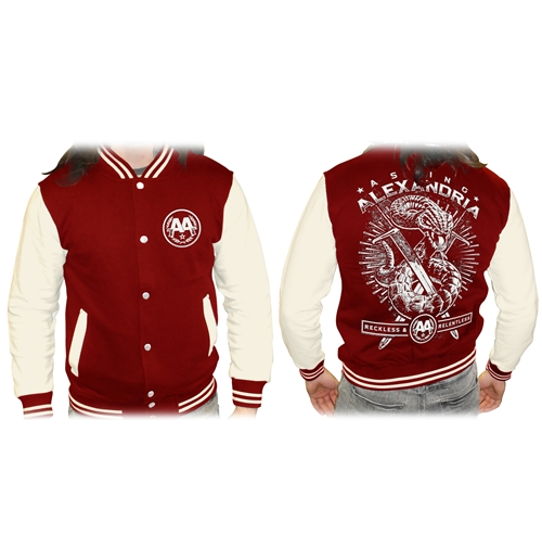 Veste Varsity Asking Alexandria - Snake Red