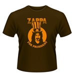 T-shirt Frank Zappa - Zappa for President Marron