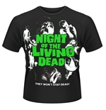 T-shirt La Nuit des morts-vivants - Plan 9 - Night Of The Living Dead (POSTER)