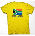 T-shirt South Africa Soccer (Jaune)