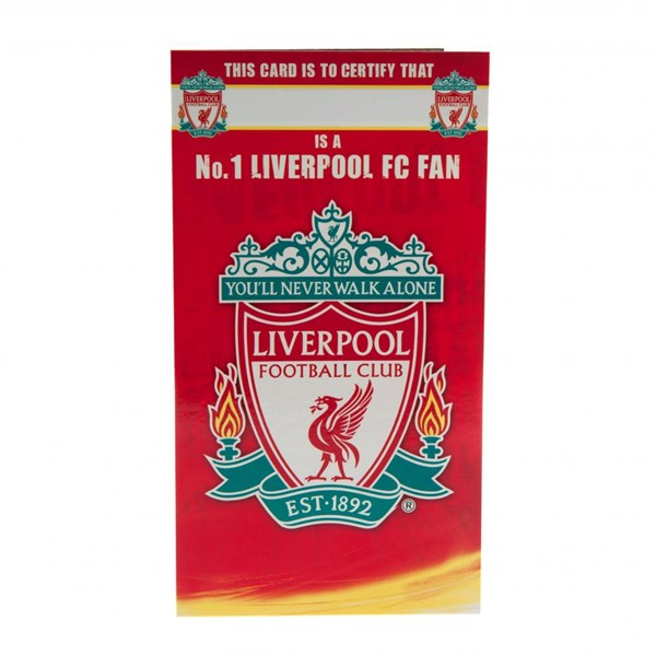 Carte d'Anniversaire Liverpool FC No 1 Fan