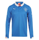 2014-2015 Rangers Puma Home Long Sleeve Shirt (Enfants)