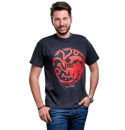 T-shirt Le Trône de fer (Game Of Thrones) - Fire And Blood