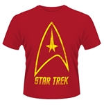 T-shirt Star Trek - Badge Logo (Rouge)