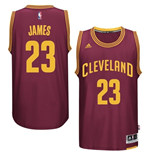Maillot Cleveland Cavaliers LeBron James adidas Garnet New Swingman Road