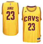 Maillot Cleveland Cavaliers LeBron James adidas Gold New Swingman Alternate