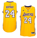 Maillot Los Angeles Lakers Kobe Bryant adidas Gold New Swingman Home