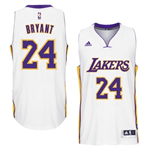 Maillot Los Angeles Lakers Kobe Bryant adidas White New Swingman Alternate