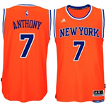 Maillot New York Knicks Carmelo Anthony adidas Orange New Swingman Alternate