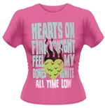 T-shirt All Time Low HEARTS ON FIRE