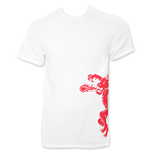 T-shirt Fireball Dragon Breath Blanc