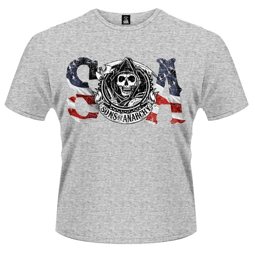 T-shirt Sons of Anarchy Drapeau