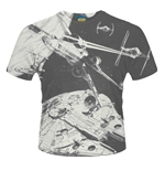 T-shirt Star Wars Space Battle