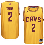 Maillot Cleveland Cavaliers Kyrie Irving adidas Gold New Swingman Alternate