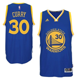 Maillot Golden State Warriors Stephen Curry adidas Royal Blue New Swingman Road