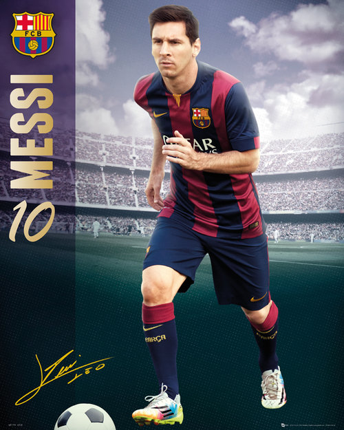 Poster FC Barcelone Messi 2014/2015