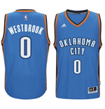 Maillot Oklahoma City Thunder Russell Westbrook adidas Light Blue New Swingman Road