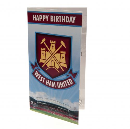 Carte d'Anniversaire West Ham United FC