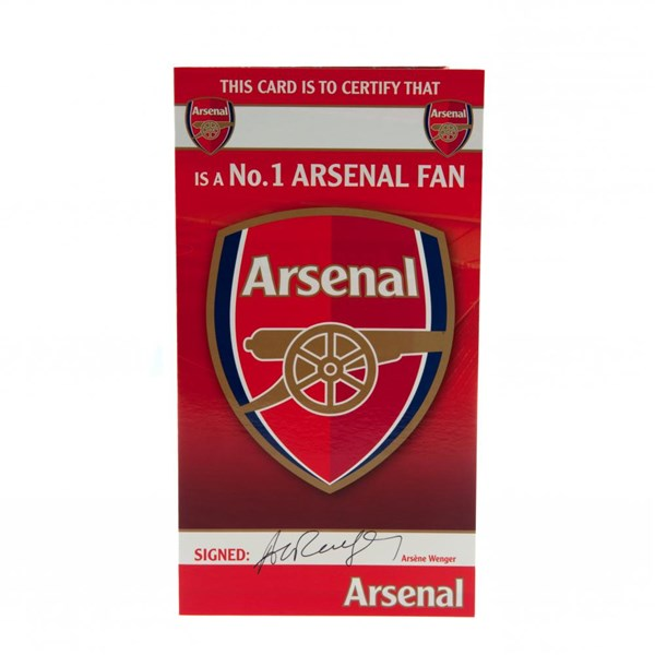 Carte d'Anniversaire Arsenal FC No.1 Fan