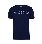T-shirt CMR 2015 Carte des 20 Nations Rugby (Marine)