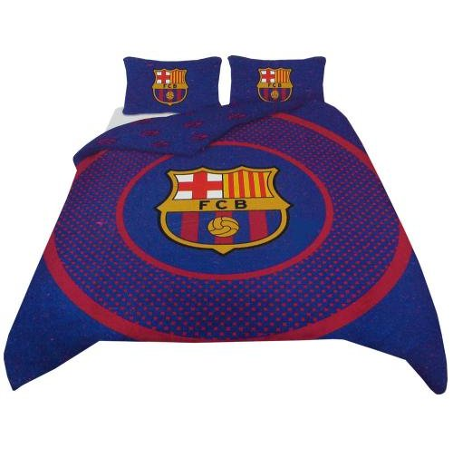 Housse pour couette fc barcelone 133228 pour seulement for Housse couette football