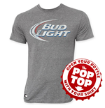 T-shirt Bud Light Pop Top Gray's Faded Logo