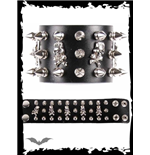 Bracelet Queen of Darkness - Studs & Skull